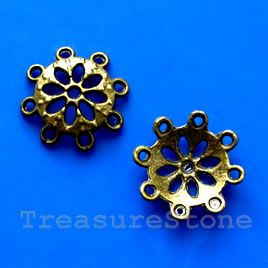 Bead cap, antiqued brass finished, 4x15mm. #TreasureStone Beads Edmonton.
