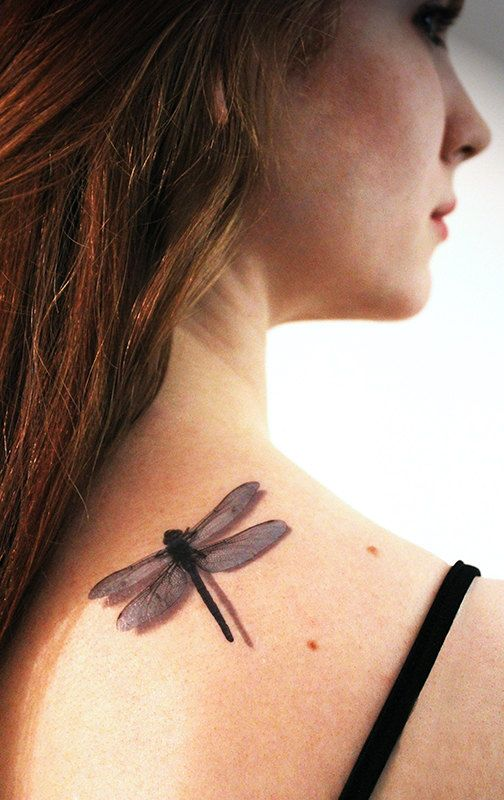 3D Dragonfly Temporary Tattoo by TattooMint on Etsy, $4.99 #dragonfly #3dtattoo #temporarytattoo