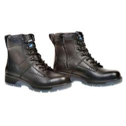 "Black 6"""""""" Lace Up Side Zipper Composite Toe Boot, Size 8"