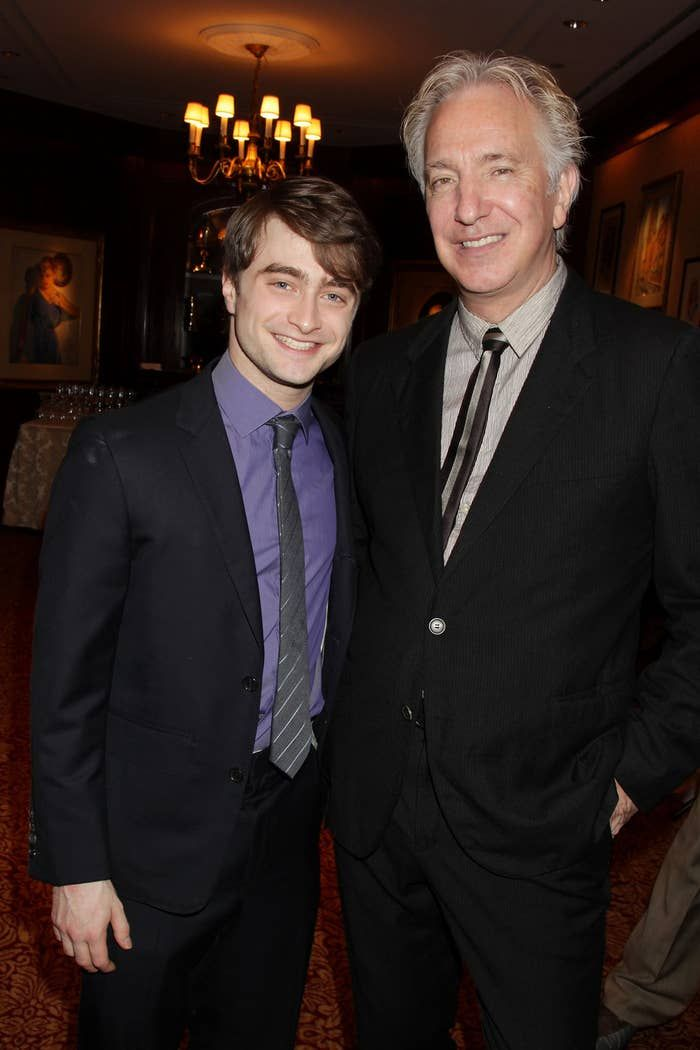 You Need To See This Video Of Alan Rickman Pranking Daniel Radcliffe Daniel Radcliffe Harry Potter Harry Potter Actors Alan Rickman