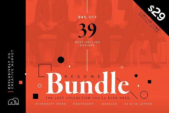 94% OFF Resume/CV Bundle by bilmaw creative on @Graphicsauthor