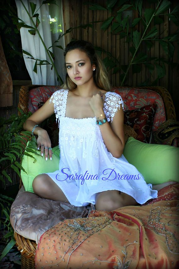 White Cotton Nightgown Cotton Baby Doll Lingerie Bridal