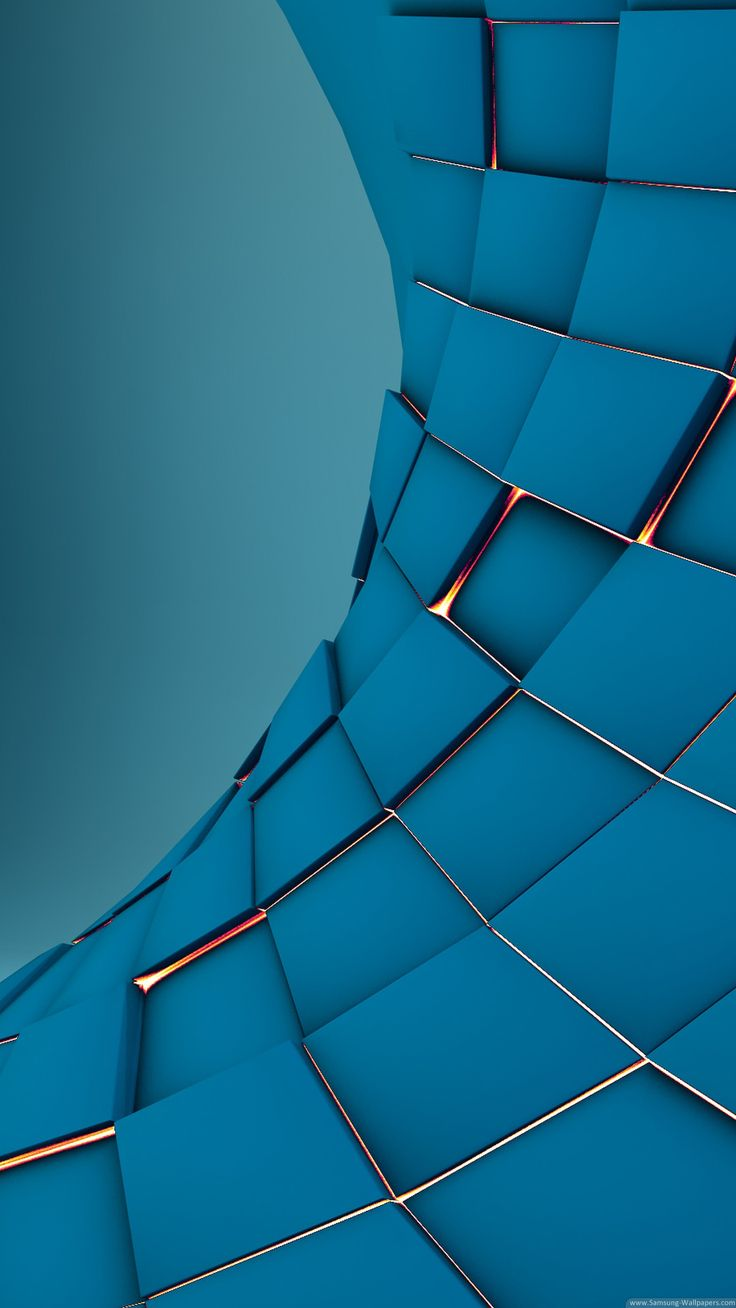 3D Squares Under Glow Abstract Render iPhone 6 Plus HD Wallpaper