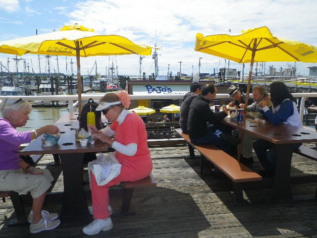 Everyone is enjoying our fish & chips! Photo Credit Joyce Allen! ^^