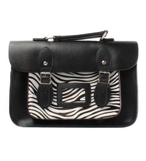 This super stylish faux leather satchel is perfect for both work or play! http://www.badsheepboutique.com/small-satchel---zebra-542-p.asp