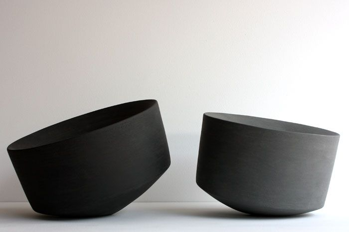 Mornings are hard enough without off-balance bowls to make breakfast confusing. Actually I think these are pretty neat :) Derek Wilson: Void Series, 2011