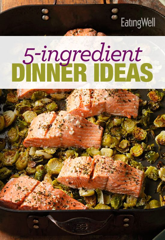 Eight 5-Ingredient Dinner Ideas available in a free recipe cookbook that you can download and print