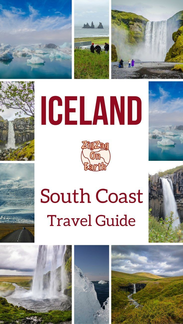 South Coast Iceland Travel Guide - map, things to do, Video, Photos... including Seljalandsfoss, Skogafoss, Skaftafell, Jokulsarlon lagoon, black sand beaches... | #iceland #Icelandtravel | Iceland Things to do | Iceland itinerary
