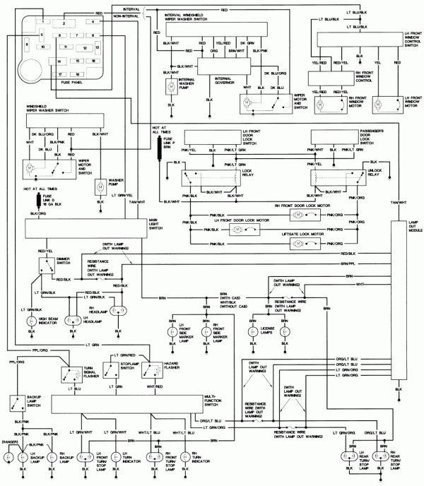 18 1990 ford truck wiring diagram  truck diagram  wiringg
