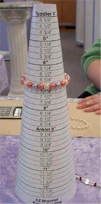 Included: good instructions for the how AND why one of these is better than a tape measure for determining correct length for bracelet.... especially one that has beads.