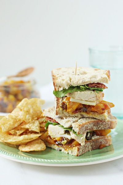 Chicken, Bacon and Mango Chutney Sandwich - Cook Nourish Bliss