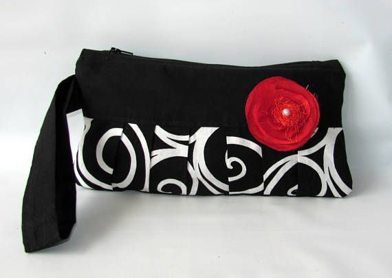 Wristlet Wallet Ebony Women Zipped Purse Cellphone Wristlet