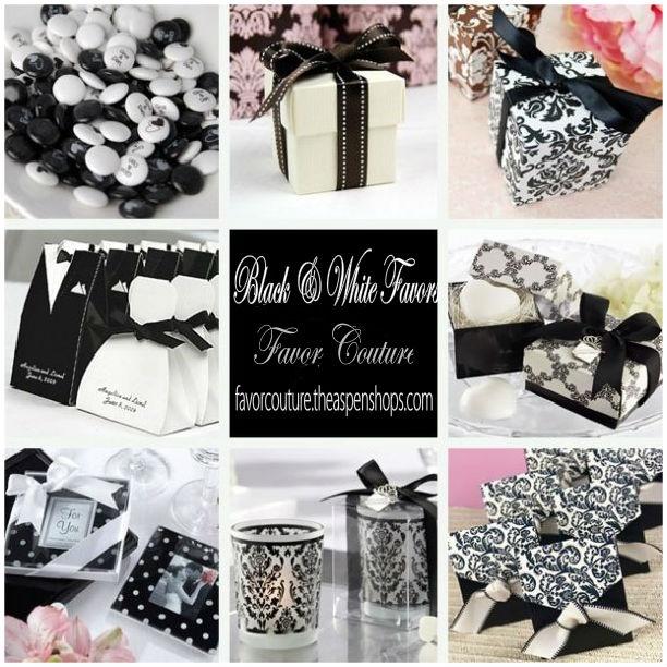 Black White Wedding Favors Elegant Favorcouture Theaspens