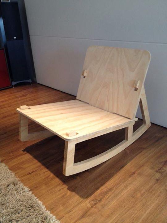 Cadeira balanço de encaixe
