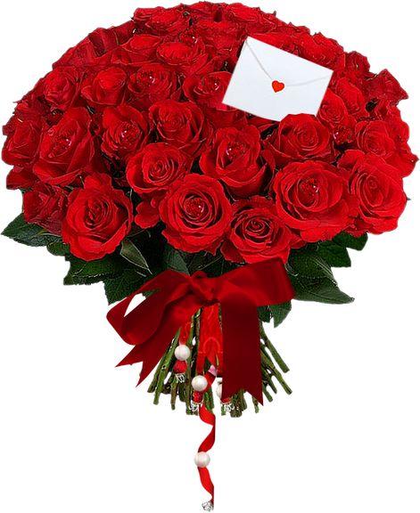 Bonito bouqu� de flores rosas vermelhas com envelope e cora��o