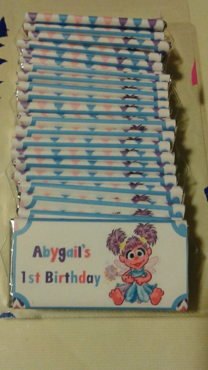 Sesame Street, Abby Cadabby chocolate candy labels.