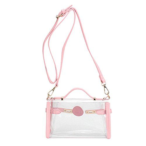 Evaliana PVC Transparent Shoulder Bag Clear Cross Body Handbag Jelly Purse Tote