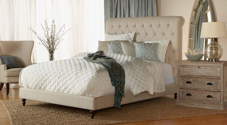 17 best images about tufted headboards beds on pinterest tufted bed upholstered headboards for Bedroom expressions fort collins