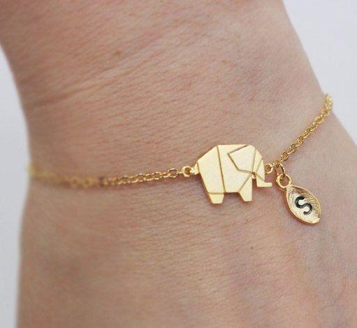 Elephant bracelet, Personalized bracelet, initial bracelet, Personalized Jewelry, friendship bracelet