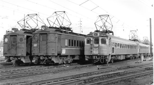 PRR had a layover yard at Paoli along their Philadelphia-Harrisburg mainline for commuter MU cars. (photo by Kermit Geary, Jr.).