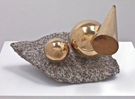 Balanced Forms in Gunmetal on Cornish Granite by Marlow Moss (1956-7)