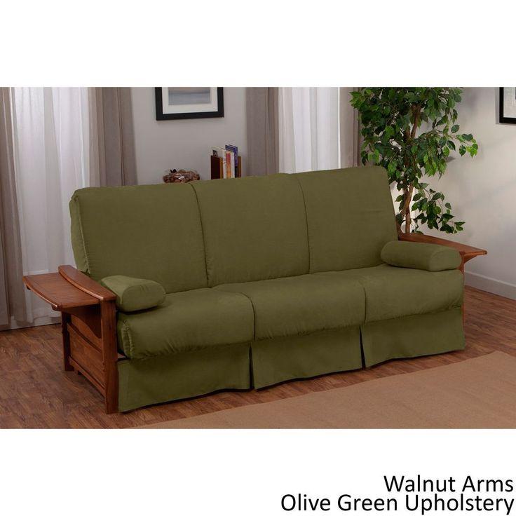 EpicFurnishings Bellevue Perfect Sit & Sleep Transitional-style Pillow Top Full-size Futon Sofa