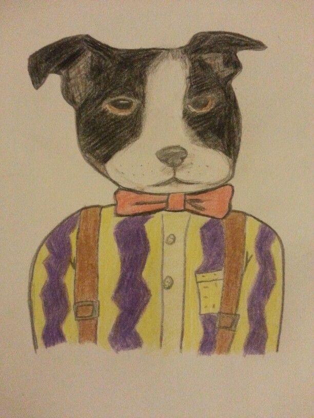 Boston Terrier by Emily Christensen