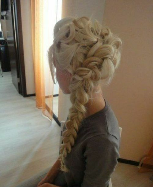 Hair style for long hair <3