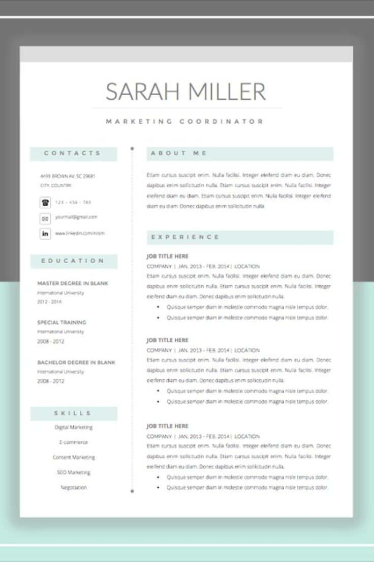 instant download resume template easy to edit   you can