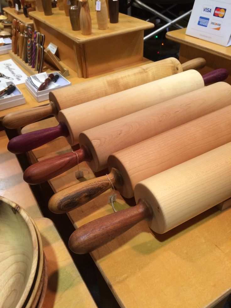 Rolling pins by Rudi Rudolph, Wooden Apple Woodturning