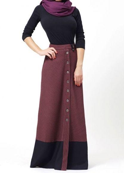 длинная зимняя юбка1