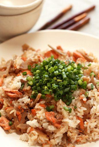 鮭とレンコンの混ぜご飯