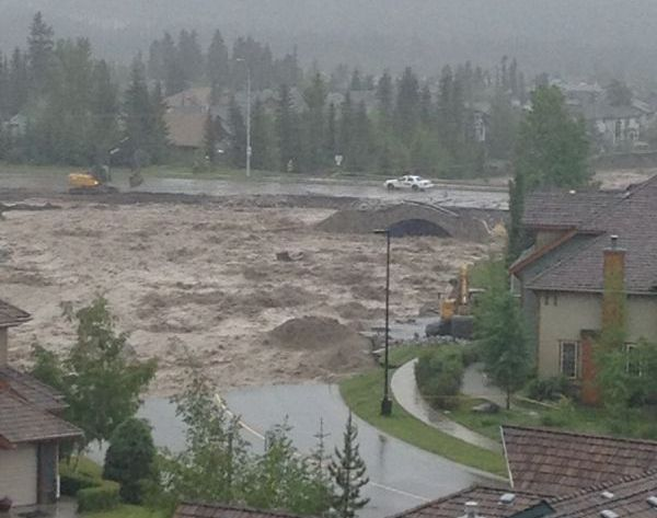 #flooding #2013 june 20th  #evacuation #calgary #banff #canmore #stateofemergency #rivers rising rapidly