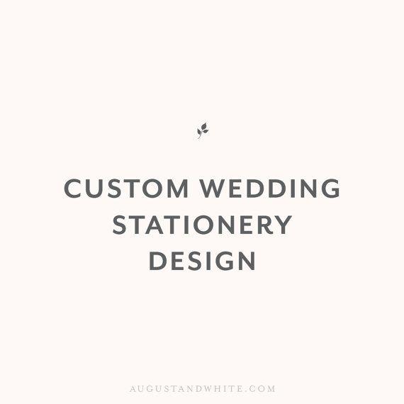 Custom Wedding Invitation Design / Custom by augustandwhitedesign