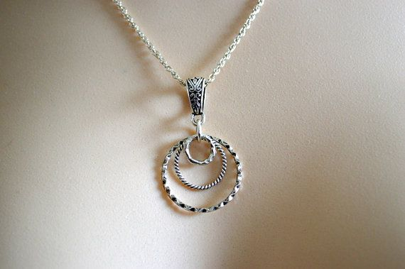 Concentric circle necklace circle necklace circle by starrydreams