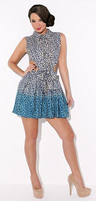 The skater dress, £45, and playsuit, £38, are fun and flirty and should be worn with bags of Tulisa-style attitude