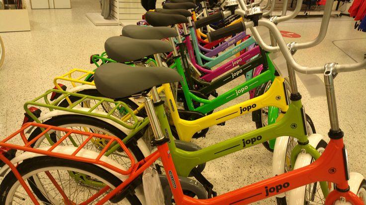 Colourful Jopo bikes. Helsinki.