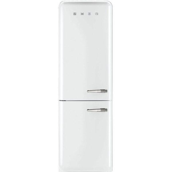 Smeg FAB32UWHLN 50s Style 11.7 Cubic Feet Bottom Freezer White Left-hand Refrigerator