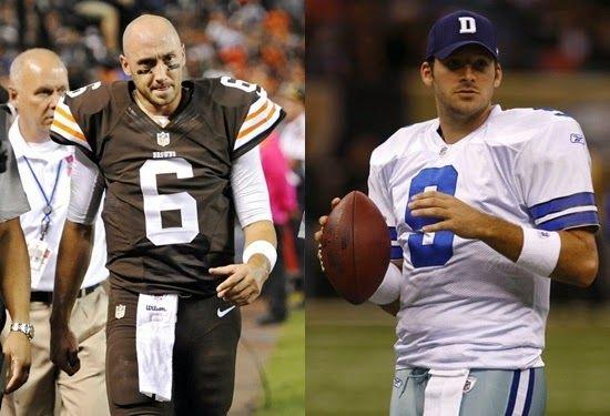 If Cleveland Browns QB Brian Hoyer is Just Average Dallas Cowboys QB Tony Romo isn't Much Better | FatManWriting