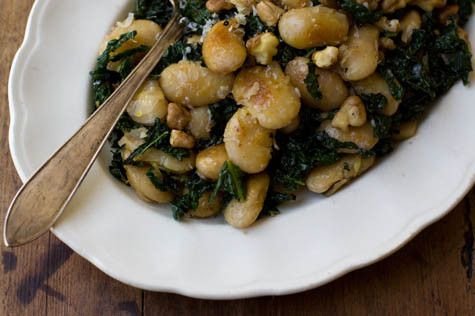 Pan Fried Beans + Kale - I Quit Sugar. Gave this a crack last night...amazing despite forgetting the parmesan and adding bacon!!