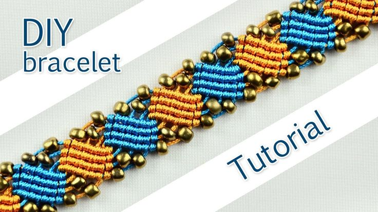 How to make a very nice macramé bracelet with squary waves and beads. This bracelet looks very interesting and it's not hard to make. Please check out other Macrame Bracelets in playlist: ... If you found this video helpful, please, take. Beads, Bracelet, Square,