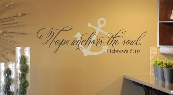 Hope Anchors the Soul Wall Decal Set Anchor by TweetHeartWallArt