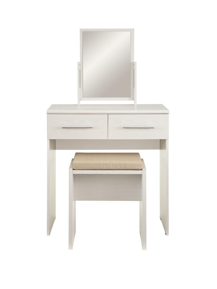 Dressing Table With Mirror And Stool: Prague Dressing Table, Stool And Mirror Set