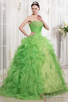 Lime Green Dresses - Q0350