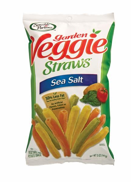 Veggie Straws, these are my go to snack when I get that salty potato chip craving. I've read that they really aren't as healthy and full of veggies as you might think. But it satisfies the need for a crunchy salty fix! You get to have 38 straws for 130 calories.