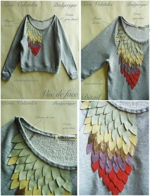 DIY sweater embellishment.