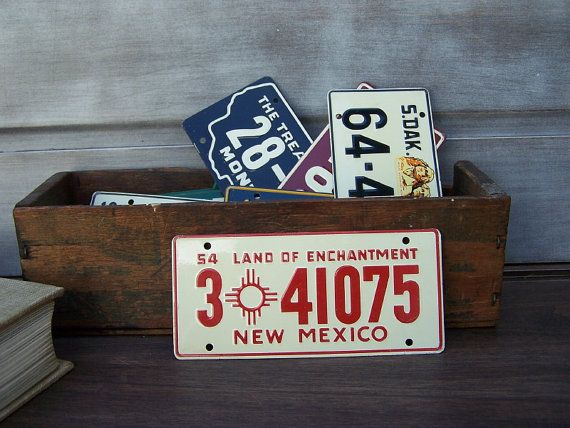 New Mexico Land of Enchantment Bicycle License by MessengerVintage
