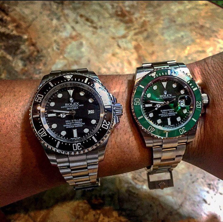 Rolex Sea Dweller Deepsea And Rolex Hulk Submariner