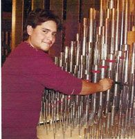 Tuning Pipes in the Swell Chamber #church #organ #fortworth #texas #music 1,740 pipes arranged in 29 ranks (sets or rows of pipes) to produce 23 voices. 740 Great and Pedal pipes, including the Festival Trumpet, are in wooden cases on both sides of the chancel above the choir singers. The other 1,000 pipes are in a Swell chamber south of the chancel, accessible from the second floor.  The Gothic-style cruciform building was built in the 1950's with Joseph Patterson, a member of the church…