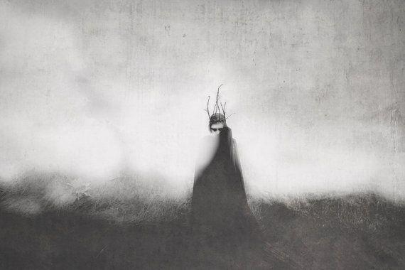 I, alto re - Fotografia Photo Print, foto arte, arte oscura, goth gotico bianco nero mistico scuro, di per sé ritrattistica